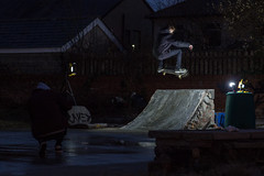 Jay Lawton - FS Air (Sanderson19) Tags: skate skateboarder skateboarding long lens diy night photography tamron 2470 600d t3i skater boneless fs bs air smith blunt nose