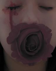 Autorretrato 1 (nidiaalvarez16) Tags: eisv escuela de imagen y sonido vigo yo nidia autorretrato trabajo sad triste flor rosa rose death muere por amor se destie sin querer lgrima sangre atrezzo 2016