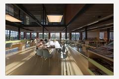 Enlightening newspapers (Line Timmermans) Tags: publicspace publiekeruimte library bibliotheek herzele wattenfabriek newspapers kranten space ruimte architecture architectuur linetimmermans