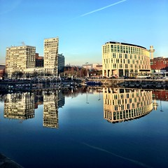 Reflections (Deydodoe) Tags: albertdock mersey merseyside buildings architecture reflecting reflection liverpool reflections mirror water urban scouse liverpoolone 2016 iphone mobile iphone6s