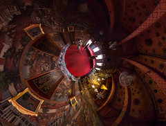 Wat Arun, Bangkok (Sitoo) Tags: 360degree 360photography 360x180 watarun bangkok hugin panorama temple templeofdawn thailand buddhist budista budismo budism stereographic smallplanet tiny planet