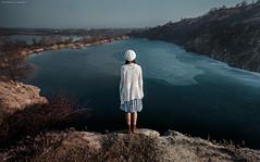 horizon (dantar90) Tags: portrait lake art girl beautiful landscape photography photo model nikon rocks horizon d5100 begmad