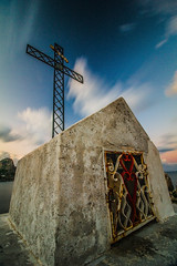 Croce di Sant'Elia (Luminux1) Tags: longexposure summer catholic cross religion wideangle sicily polarizer cpl haida hoya nd400 mongerbino