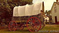 August 10, 2015 - A covered wagon at Four Mile Historic Park. (Jennifer McNeil)