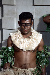 28-357 (ndpa / s. lundeen, archivist) Tags: costumes man color men film face leaves festival fiji 35mm necklace dance costume clothing dancers dancing song traditional nick group performance culture makeup dancer skirt suva southpacific warriors tradition 1970s facepaint 27 performers 1972 grassskirt necklaces dewolf oceania fijian pacificartsfestival pacificislands youngmen festivalofpacificarts southpacificislands nickdewolf photographbynickdewolf festpac pacificislandculture southpacificfestival reel27 southpacificartsfestival southpacificfestivalofarts fiji72