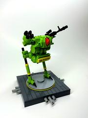 Allegro B-2 (SuperHardcoreDave) Tags: scale war lego small machine walker fantasy future scifi lime mecha mech moc