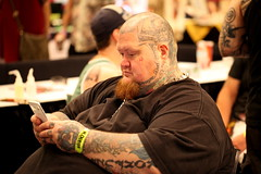(ONE/MILLION) Tags: old city arizona people art phoenix festival tattoo ink fun hotel photo pain colorful flickr artist image fb body hell young indoor piercing equipment scottsdale addicted biltmore tshirts fest sleeve crowds addict share facebook cursed onemillion williestark hellcitytattoofest