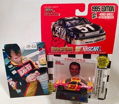 #18-32, Chad Little, Signing, Racing Champions, 1995, Bayer, #23, Busch (Picture Proof Autographs) Tags: auto classic cars scale car sign real toy toys photo model automobile image display models picture images collection vehicles photographs photograph collections nascar displays 164 vehicle driver proof session autoracing autos collectible collectors signing automobiles collectibles authentic sessions collector drivers genuine diecast winstoncup carded buschseries inperson 164th photoproof authenticated blisterpacks pictureproof