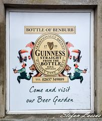 Bottle of Benburb Guinness add. (Salmix_ie) Tags: county ireland castle shop gardens bottle october northern spar priory tyrone benburb 2015 servite mcanallen