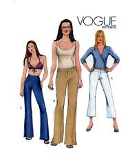 Vogue 7301 High Drop Waist Pants Trousers (findcraftypatterns) Tags: weekend vogue crop trousers casual bootleg career capris dresspants highwaist dropwaist semifitted vogue7301belowwaistlowriseorhighwaistsemifittedwidelegpanttrouser contourwaistsize1214