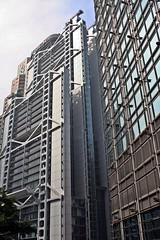 Hong Kong Central - HSBC & Neighbour (zorro1945) Tags: china hk glass hongkong asia central asie fengshui hsbc modernarchitecture banks chine hongkongisland honkers glasssteel hongkongcentral
