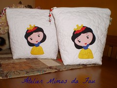 Ncessaires Branca de Neve (Atelier Mimos da Fau) Tags: quilt beb aplicao bordadoamo ncessaires