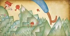 O Gigante / The Giant (Daniel BUENOZINE) Tags: music illustration book o text illustrator livro msica ilustrao gigante thegiant acordou ogigante companhiadasletrinhas angelomundy tiquetie