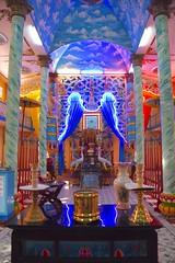 Cao Dai Temple Vietnam (armct) Tags: art architecture temple neon religion decoration vietnam unusual colourful kaleidoscopic caodaism