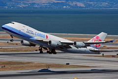 B-18709 (Rich Snyder--Jetarazzi Photography) Tags: california ca plane airplane sfo aircraft jet cargo cal boeing ci departure takingoff takeoff 747 jumbojet dynasty millbrae departing freighter b747 747400 sanfranciscointernationalairport ksfo dtower b744 ramptower chinaairlinescargo b18709 747409f shadowtower