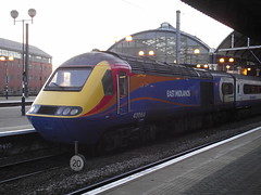 43064 (Rob390029) Tags: emt east midlands trains class 43 hst powercar train track tracks rail rails newcastle central railway station ncl ecml coast mainline 43064 stagecoach