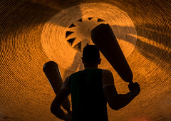 iranian man wielding wooden clubs during the traditional sport of zurkhaneh, Yazd Province, Yazd, Iran (Eric Lafforgue) Tags: people orange man male men brick silhouette sport horizontal training athletic adult iran muslim performance middleeast persia bodybuilding ceiling indoors clubs shia ritual tradition activity orient kashan sufi sufism cultures oneperson yazd zurkhaneh shiite midadultman waterreservoir exercising 30sadult persiangulfstates traditionalsport إيران onlymen onemanonly waistup иран lowangleview 17005 colourimage 1people イラン zourkhaneh irão abanbar 伊朗 zurkhane yazdprovince muscularbuild unrecognizableperson westernasia houseofstrength 이란 gowd