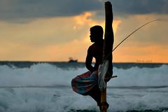 Fishing point (Saint-Exupery) Tags: leica sea mar fishermen srilanka galle pescadores weligama