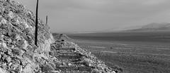 Amargosa Desert (joeqc) Tags: blackandwhite dusty abandoned monochrome canon mono desert nevada windy nv forgotten mojave desolation 6d greytones ef24105f4l