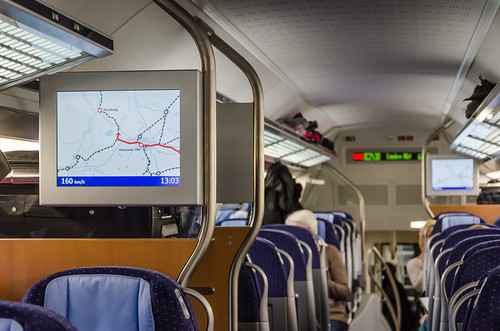 OpenStreetMap in an IC2 carriage (Deutsche Bahn), 2015