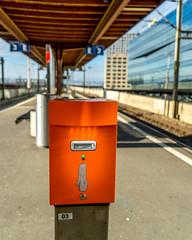 Give me your ticket (jaeschol) Tags: orange switzerland railway sbb zrich kreis5 hardbruecke ticketentwerter