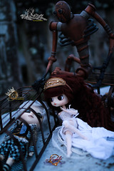 Faces of the Past (dreamdust2022) Tags: shadowed king blaylock evil mean powerful greed hate fear control father fallen soul golem arabella sweet cute charming brave playful foolish darling pretty adventurer young little junker girl dal doll