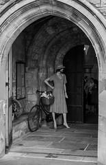 REMEMBRANCE FIGURE in PORCH of PARISH CHURCH, CROWLE, LINCOLNSHIRE_DSC_1442_LR_2.0-3 (Roger Perriss) Tags: building crowle d750 blackandwhite porch church parishchurch stoswolds stonework cycle manikin remembrance