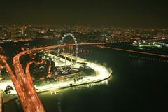 Singapore Flyers at Night (sunsetmood) Tags: singaporeflyer ferriswheel mbs