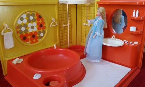 Barbie Badezimmer 70s ( Hollywood Luxus Badezimmer Von Tina Toy 70er )