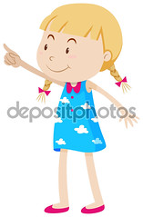 gf_left_right_02 (Bbb31burks) Tags: kid child young youth childhood smiling happy student pupil girl pointing gesture skirt cute adorable fingers hand bodylanguage standing illustration graphic picture clipart clip art background drawing image white clipping path isolated object vector