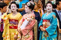 Maiko Sighting (phikapphil) Tags: geisha geishas japan japanese women woman kyoto yamaboko junko gion matsuri festival colorful gift offering nikon d7100 maiko
