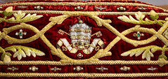 Papal Crown and Keys (Lawrence OP) Tags: papal embroidery stone dominican sisters staffordshire vestments tiara keys red