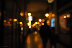 One night in Paris (nathaliedunaigre) Tags: paris nuit night personnes passants people lights lumires passage galerie ambiance urban urbain ville city flou blurr bokeh