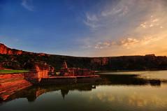 Evening over Agastya Lake (kg.abhi) Tags: bhuthnathtemple agastyalake badamaicaves badami karnatak india