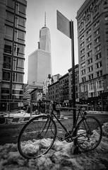 New York City - 2014 - On Explore! (davide978) Tags: rosso img7068 nyc ny new york newyorkcity usa davide978 davidecolli 2014 vertical bw biancoenero manhattan explore explored