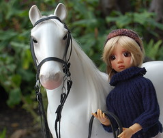 Lara and her White Horse (Emily1957) Tags: dolls doll toys toy horse whitehorse battat toyhorse white lizfrost bjd lara light naturallight nikond40 nikon kitlens morganhorse bonniebelle