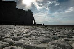 Low tide (alain01789) Tags: etretat normandie manche channel landscape paysage seascape sun soleil nuages clouds falaises cliffs aiguille velvia