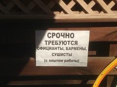 Срочно требуются ... сушисты (GrusiaKot) Tags: ucraina ukraine україна украина travelling autumn writing funny words