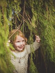 Discovery 2 (Vincent F Tsai) Tags: portrait girl kid cute tree branch play imagination panasonic leicadgsummilux25mmf14 lumixgx8