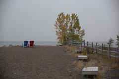 Benches alongside the dog park in the beach, HBM (shireye) Tags: thebeach toronto ontario hbm nikon d610 24120 ff fullframe fx happybenchmonday lakeontario lake
