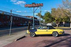 Footscray (Westographer) Tags: footscray melbourne australia westernsuburbs suburbia triumph triumphstag garage neonsign douglassservicestation signage typography