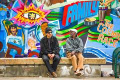 Hanging Out (Thomas Hawk) Tags: america california mission missiondistrict sf sanfrancisco usa unitedstates unitedstatesofamerica graffiti mural streetart fav10