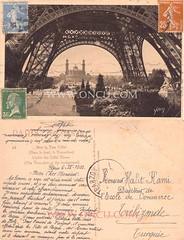 Paris - Fransa (talatwebfoto1) Tags: yapi kule paris fransa 1933 siyahbeyaz pullu arkasıyazılı 19231950