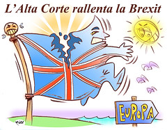 To Brexit or not to Brexit (Moise-Creativo Galattico) Tags: editoriali moise moiseditoriali editorialiafumetti giornalismo attualit satira vignette brexit may miller gina theresa