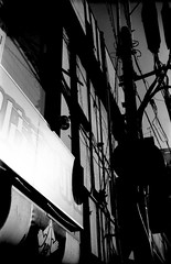 (variance) (Dinasty_Oomae) Tags: bolsey  bolseyb2 b2  blackandwhite bw monochrome outdoor  chiba     utilitypole utilitywire shadow