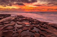 Tide Pools (PhotoJacko - Jackie Novak) Tags: lajolla potholes sandiego tidepools sunset ocean clouds sky canon6d jackienovakphotography seascape gndfilter leefilternd6softgnd california travel nature landscape twilight longexposure