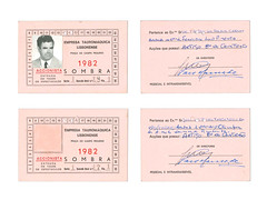 ID_CARDS (Simon A Davies) Tags: id cards print old pink hand lettering writing 1982 typography type san serif script goverment