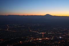 View of Pyatigorsk from the top of Mount Mashuk (Sergey Kustov) Tags: dusk sunset mashuk elbrus beshtau mountain ridge caucasus panorama view pyatigorsk russia