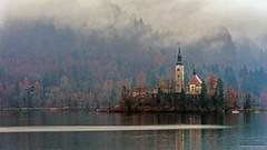 Autumn fogs (Paweł Szczepański) Tags: bled radovljica slovenia si sal70200g greatphotographers best shining