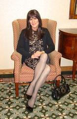 Black Lace Dress (xgirltv1000) Tags: tgirl crossdress transgender mtf makeover transformation michellemonroe